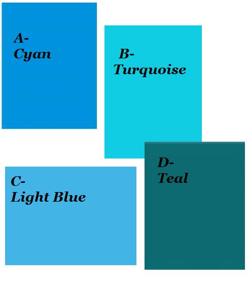 Teal Blue Vs Teal Green Colors Comparison: Difference Between CYAN, TURQUOISE, LT BLUE, TEAL