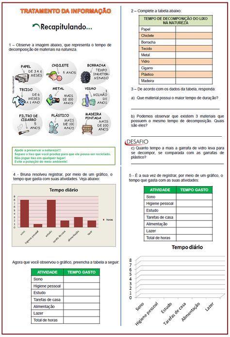 Tratamento da Informação – atividades   Sala de Aula – Profª Rérida