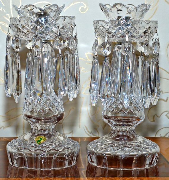 Pair of Vintage Waterford Crystal Candleabra with by BirneyCreek, $595.00