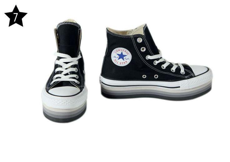 IL LACCIO - All Star nere con suola alta. Disponibili anche in bianco.