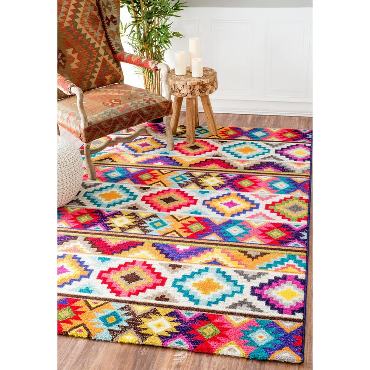 soft and plush the pile on this area rug is made from 100 - Colorful Area Rugs
