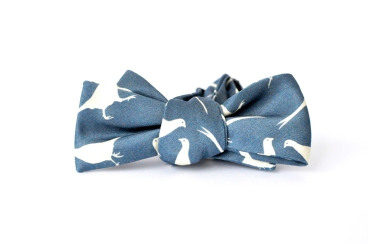 If you are going to go there...go all the way. Clay Pigeon bow tie from Pierrepont Hicks.