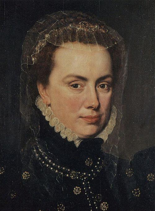 8) HERTOGIN MARGARETHA VAN PARMA (1522-1586) LANDVOOGDES v.d. SPAANSE NEDERLANDEN - zuster van FILIPS II ca. 1562 by Antonio MORO Anthonis Mor (Antonio Moro van Dashorst) 1516-1575 - Portrait of .