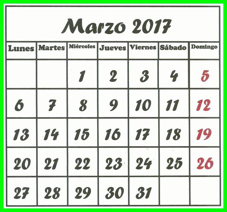 marzo 2017 | Mi almanaque 2017 | Pinterest