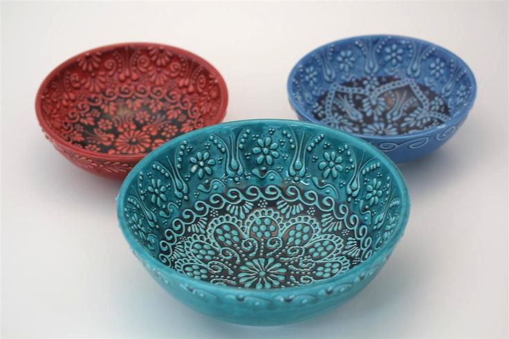 TURKISH CERAMIC BOWL SET OF THREE