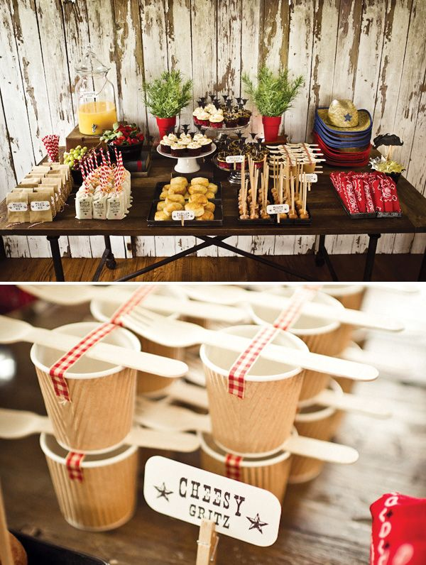 Old West Inspired Cowboy Party {Super Cute!}Kids Parties, Cowboy Birthday, Cowboy Theme, Food Tables, Birthday Parties, Theme Parties, Cowboy Parties, Cowboy Party, Parties Ideas
