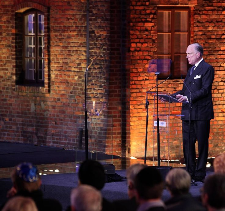70th anniverary of the liberation of Auschwitz. Ronald S. Lauder speaking on behalf of the 'Pillars of Remembrance' - individual donors of the Auschwitz-Birkenau Foundation.