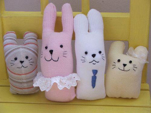 Baby sock rabbit