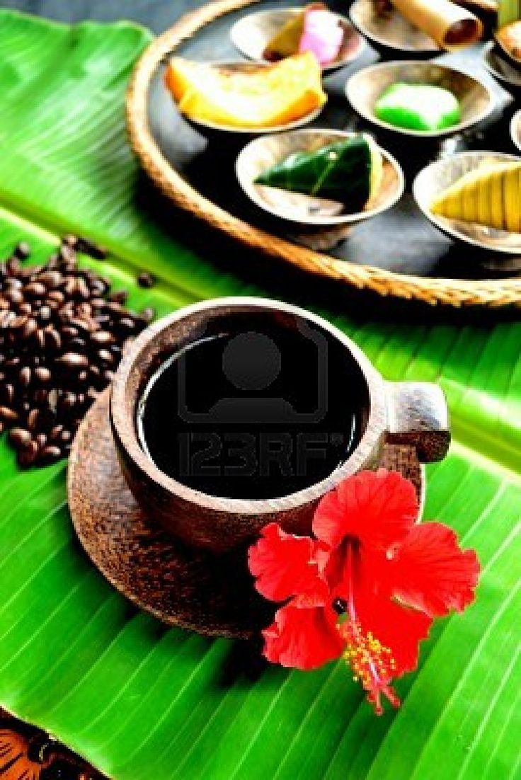 Balinese coffee and Balinese cake