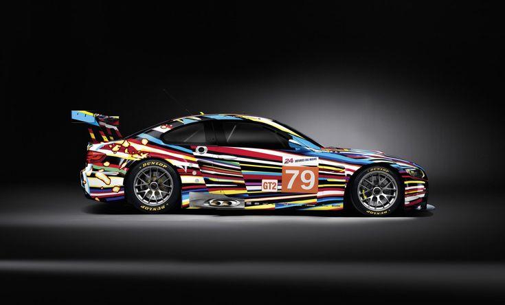 sports car racing graphics | World Premiere: Jeff Koons' BMW M3 GT2 Art Car