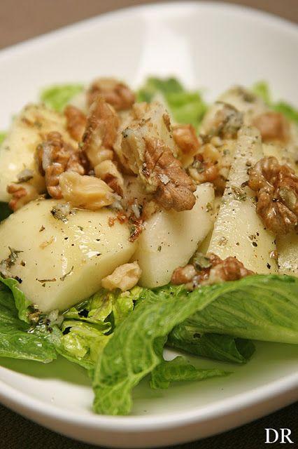 Plantaardigheidjes: Romaine sla met peren salade
