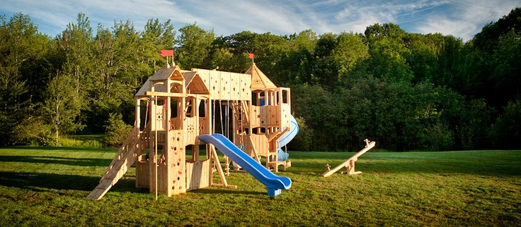 Frolic swing set: Amazing site for ideas on swing sets :)