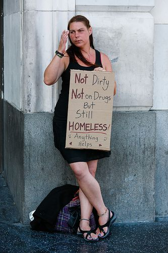 Just because someone is homeless doesn't mean they do drugs and are dirty.  Homeless people have been stuck with this stereotype, or label that has most people thinking they are far from the person that they actually are.