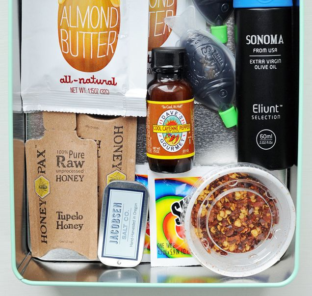 """Stash a meal """"emergency lunch kit"""" in your desk to improve mediocre lunches."""