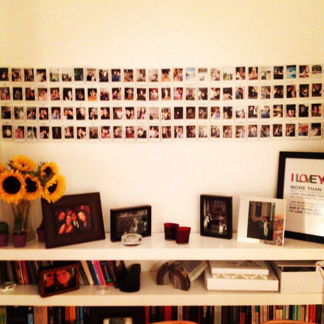 instax mini polaroid wall room ideas pinterest. Black Bedroom Furniture Sets. Home Design Ideas