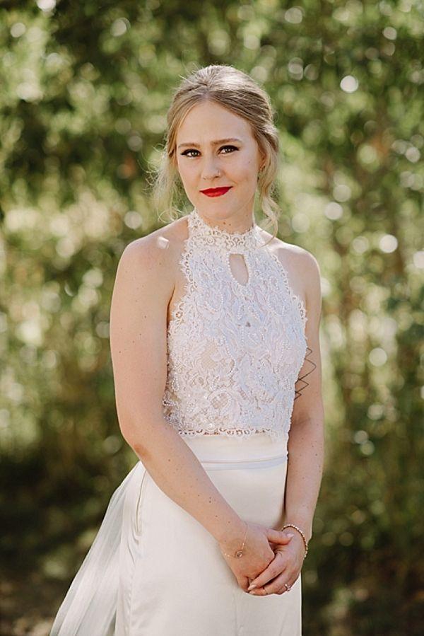 Lace halter neck wedding dress    #wedding #weddings #weddinginspiration #engaged #aislesociety #mountainweddings