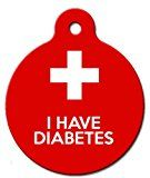 "I Have Diabetes Medical ID Tag (Small (7/8"")) 