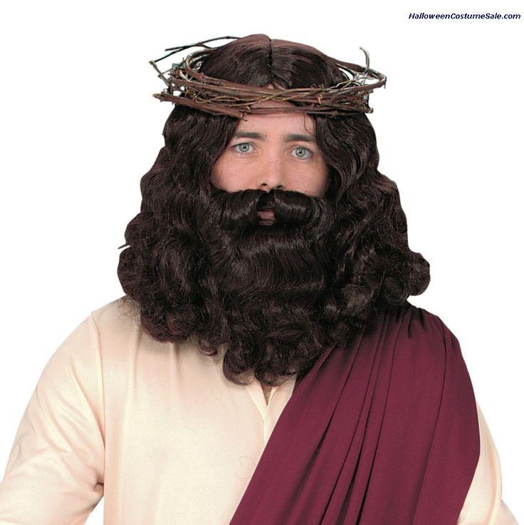jesus wig with beard wig beard easter eastercostumes costumeideas easter - Halloween Beard Costume Ideas