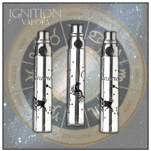 Add that special touch to your vaporizer with our Astrology Range of Batteries.  FREE Shipping!  http://btlr.me/12FZGnU