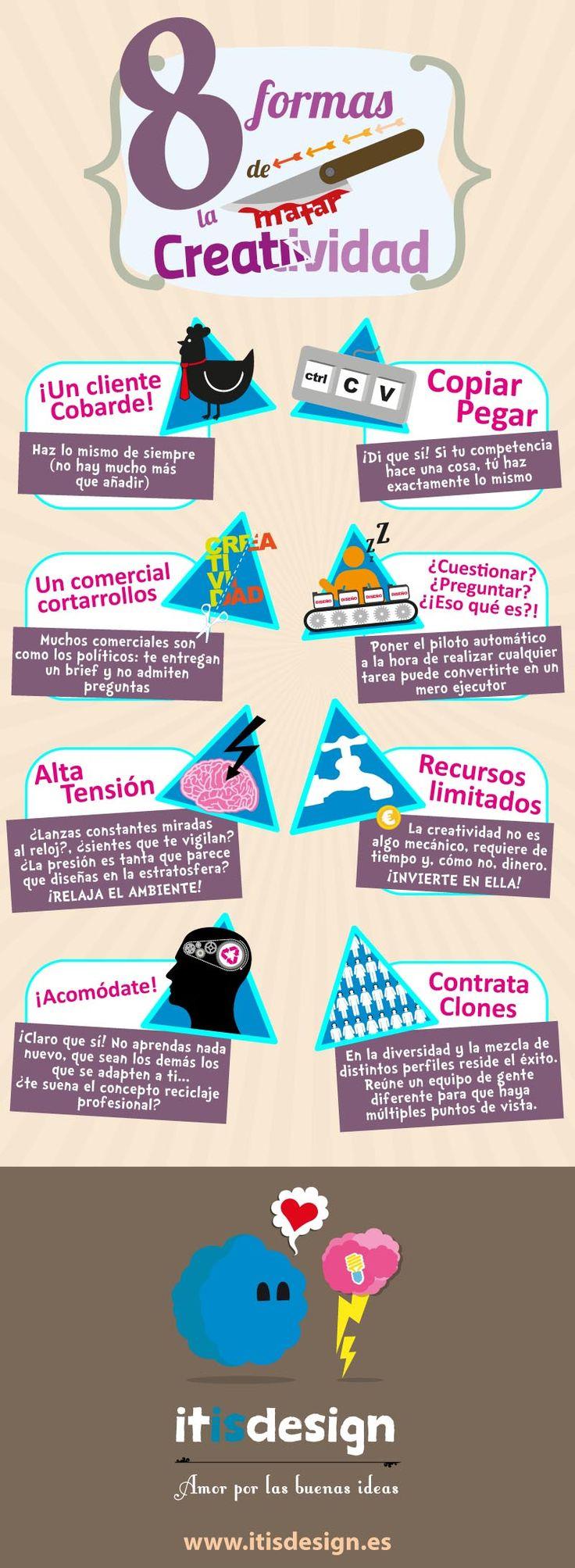 8 formas de matar la creatividad #infografia #infographic