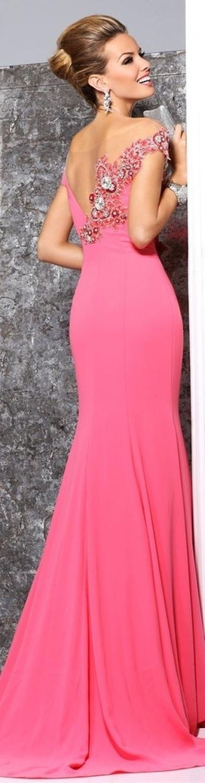 21 best Vestidos fiesta rojo images on Pinterest | Evening gowns ...