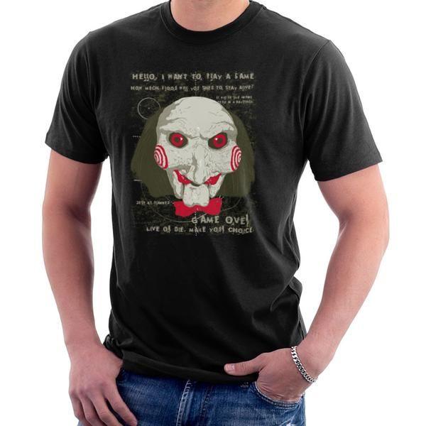 Jigsaw Saw Clown Head Men's T-Shirt Men's T-Shirt Cloud City 7 -