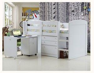 Childrens Chester White Midsleeper Bed