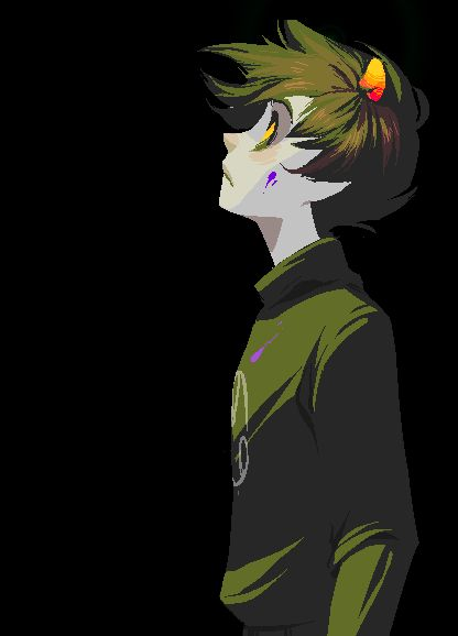 This is my favorite canon picture of Karkat. Everyone seems to portray him as…