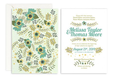 Garden Party Wedding Invite – Jo's Paperie #wedding #invitations #floral #template