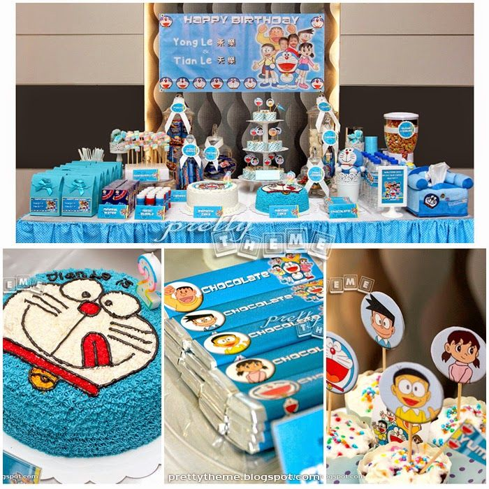 Doraemon (Ding Dong) birthday party theme