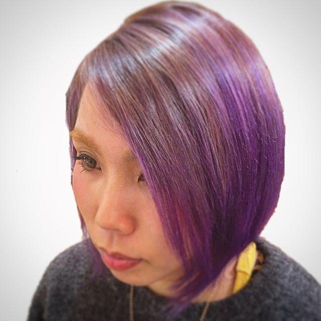 WEBSTA @ msjiyugaoka - マニパニ使ってグラデーションをしました。#ライラック#マニパニ#マニックパニック#紫#青#美容室#美容院#自由が丘美容室#自由が丘#東横線#大井町線#ヘアカタログ#モデル募集中#奥沢#ヘアサロン#purple#Blue#hair#color#Bluehair#