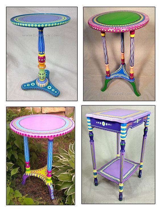 Hand Painted Furniture, Custom Hand Painted Furniture, Colorful Hand Painted  Furniture, Hand Painted