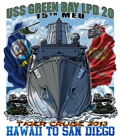 USS Green Bay LPD-20 Tiger Cruise Shirt