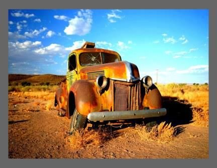 A1 Canvas Print ( Old Car ) ( Print Only )