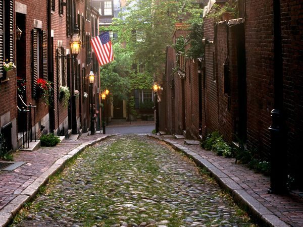 Boston - so excited!: Cool Houses, American History, Favorite Places, American Flags, Cobblestone Street, Boston Massachusetts, Visit Massachusetts, Beautiful Boston, Beacon Hill