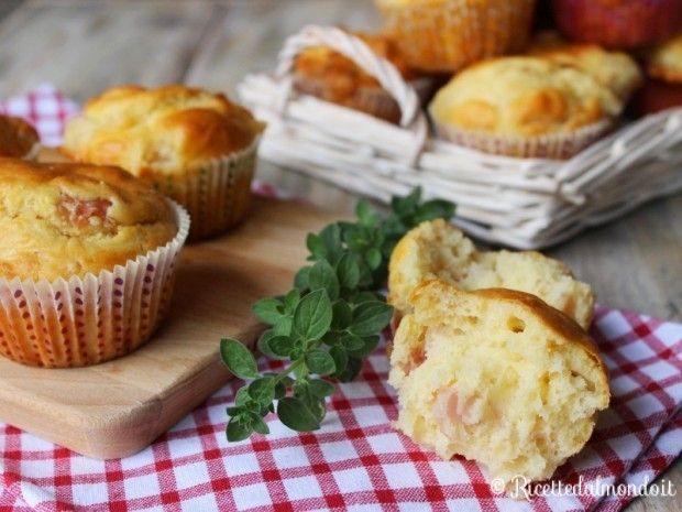Ricetta per Muffin salati al Prosciutto