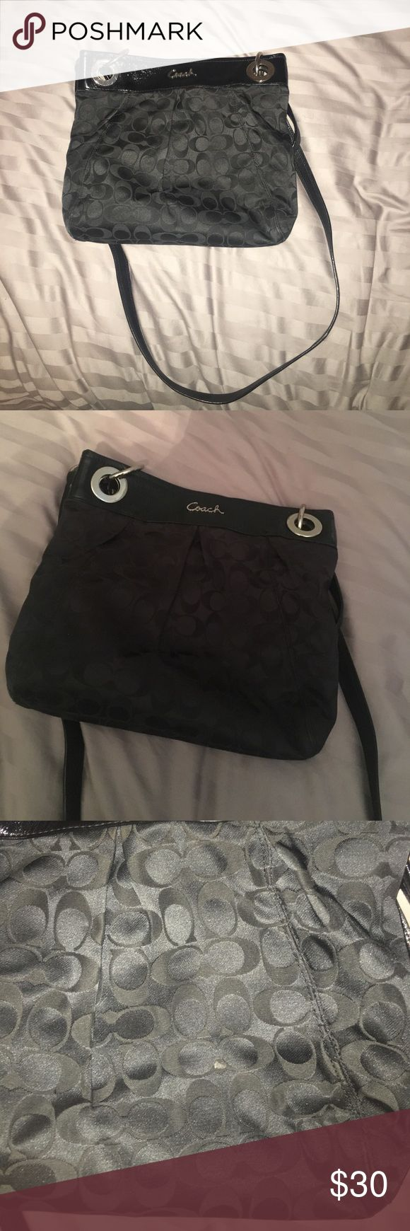 Coach satchel. Used a few times. Decent condition. Coach satchel. Used a few times. Decent condition. Great for the summer and really roomy!  Will email additional pictures if interested Coach Bags Crossbody Bags