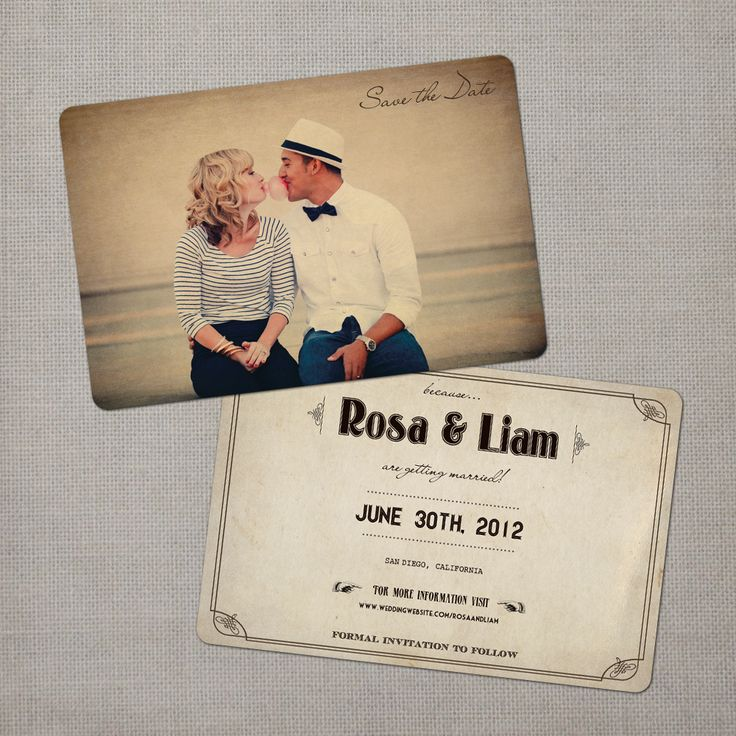Nostalgic Imprints Inc. - Rosa - 4x6 Vintage Photo Save the Date Card