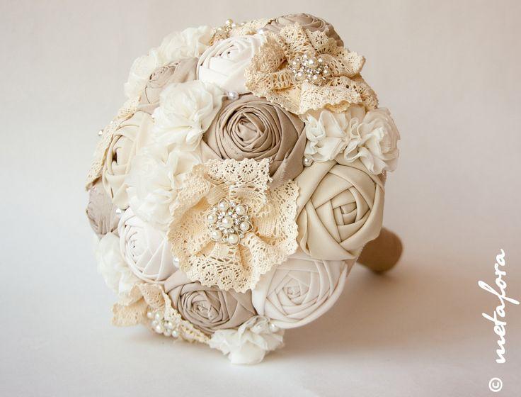 VENDITA Tessuto Bouquet Bouquet d'epoca rustico di feltdaisy