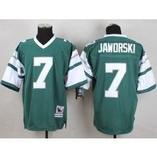 Mitchell And Ness Eagles #7 Ron Jaworski Green Stitched Throwback NFL Jersey