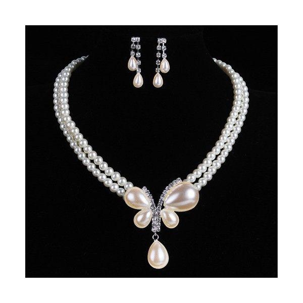 perový set náhrdelník a náušnice
