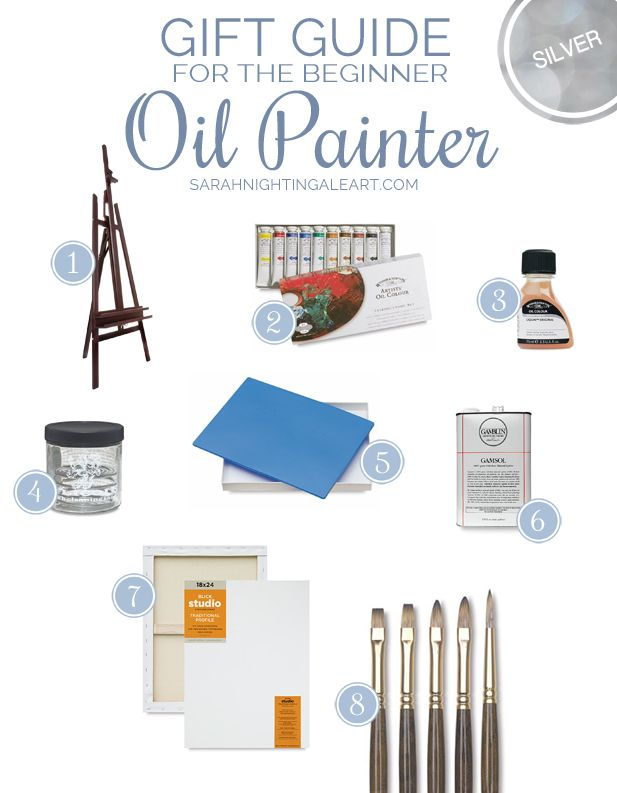Gift Guide For The Beginner Oil Painter. A complete set to start painting!