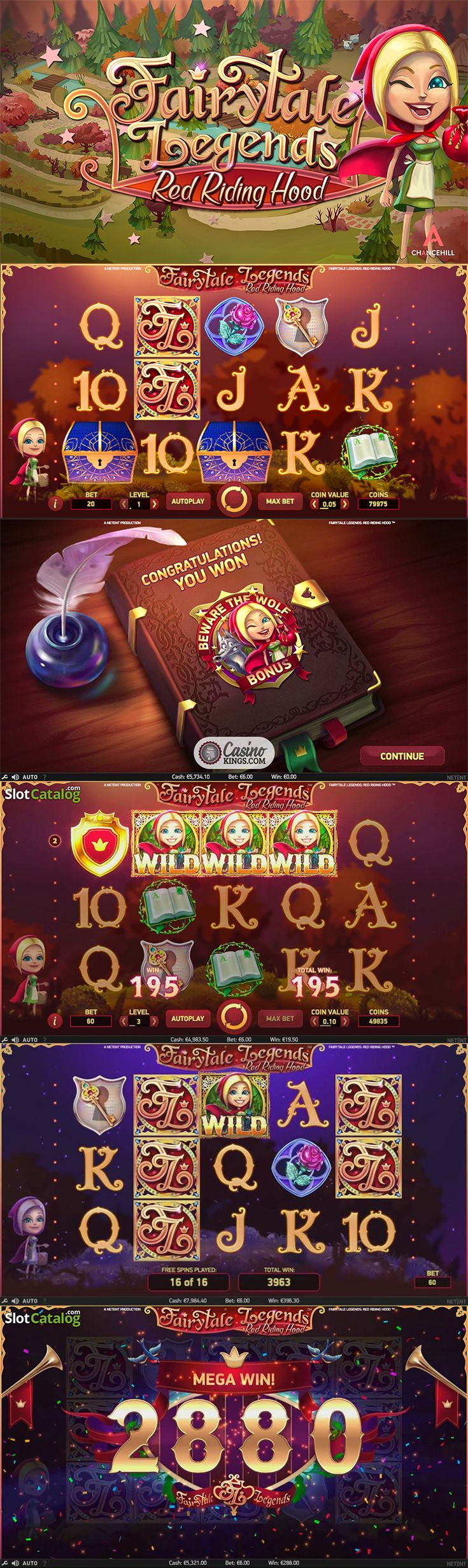 Set off on an adventure and play the new NetEnt Fairytale Legends: Red Riding Hood slot for free!  --  #Fairytale #RedRidingHood #OnlineSlot