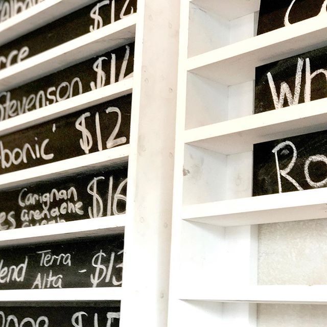 Our wine board has pride of place in the bar. Whenever we have something new, something old or something special available, you'll find it here. Hidden gems abound.