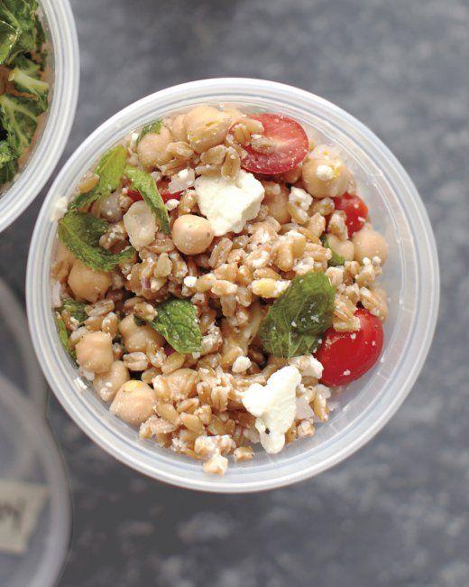 Farro, Chickpea, Feta and Mint Salad Recipe