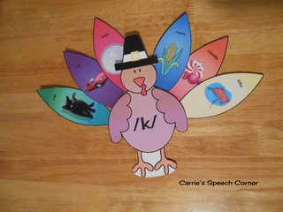 Carries Speech Corner: Articulation Turkeys FREE download