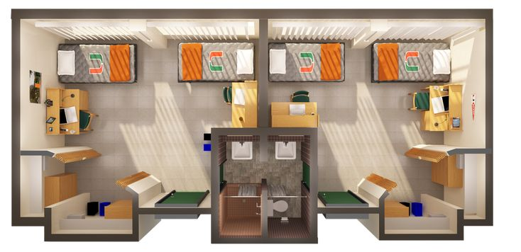 Colorado State University Dorm Room Layouts