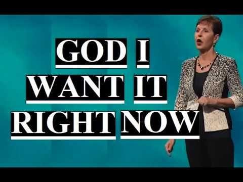 Joyce Meyer - God I Want It Right Now Sermon 2019 - YouTube