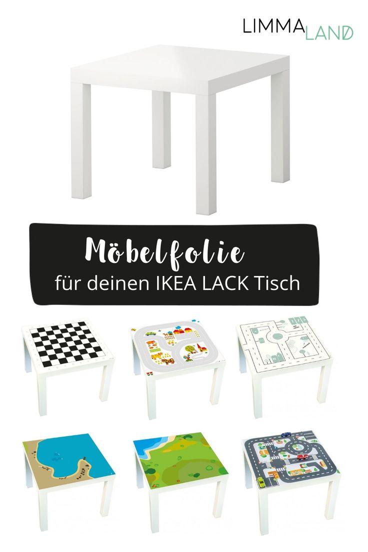 Mit unseren Designfolien verwandelt ihr den einfachen IKEA LACK Tisch in  einen tollen Spieltisch! Ihr braucht keine begbten Handwerker zu sei  und ha…