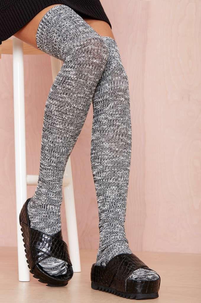 Dice Thigh High Socks
